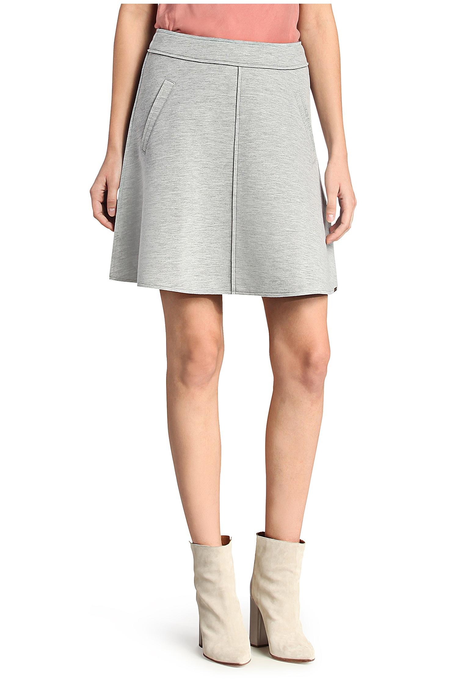 Boss orange Short Flared Skirt In A Fabric Blend: 'taskirt' in ...