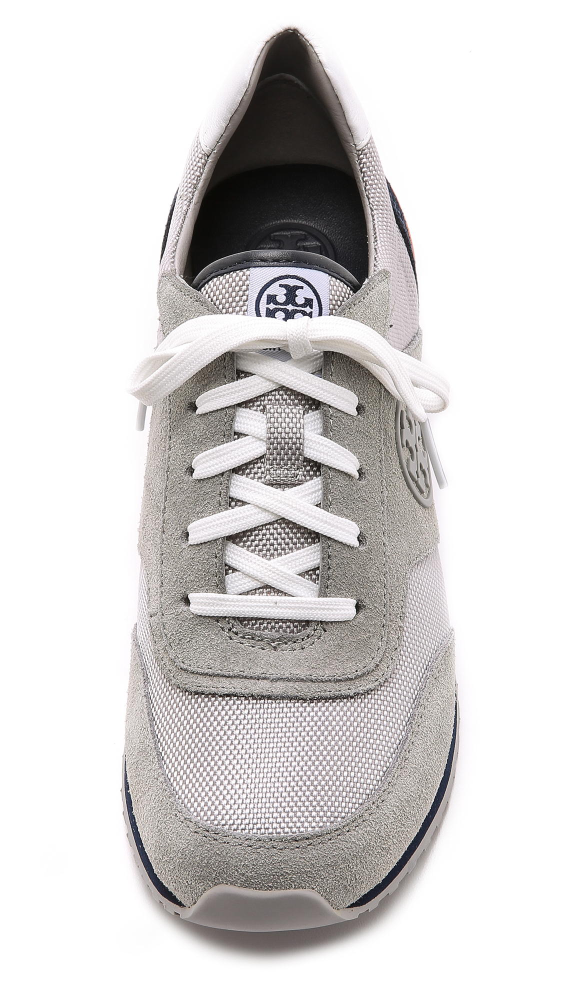 e68a73136 Lyst - Tory Burch Sawtooth Logo Trainer Sneaker in Gray