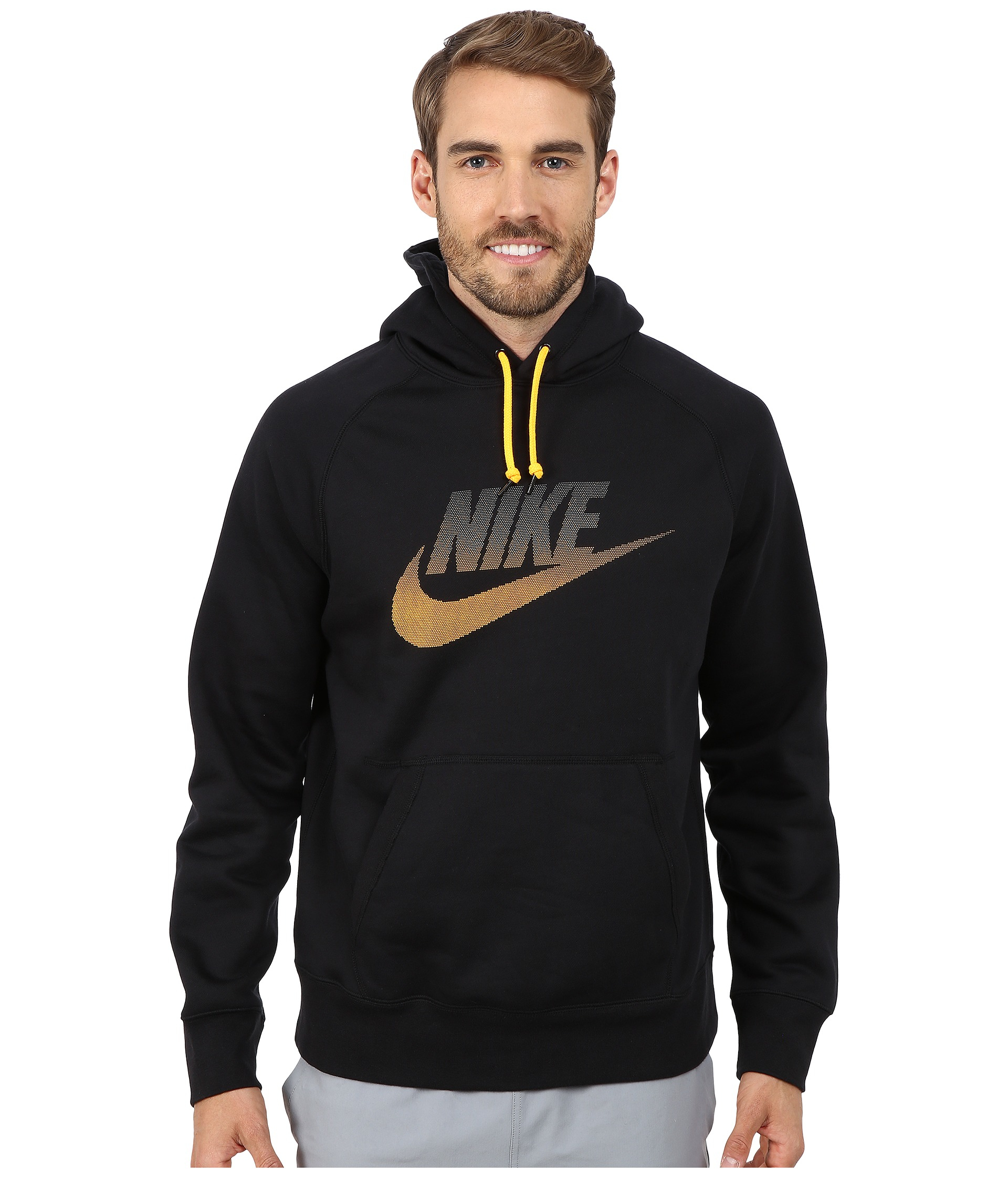 nike aw77 fleece hoodie futura in black for men lyst. Black Bedroom Furniture Sets. Home Design Ideas