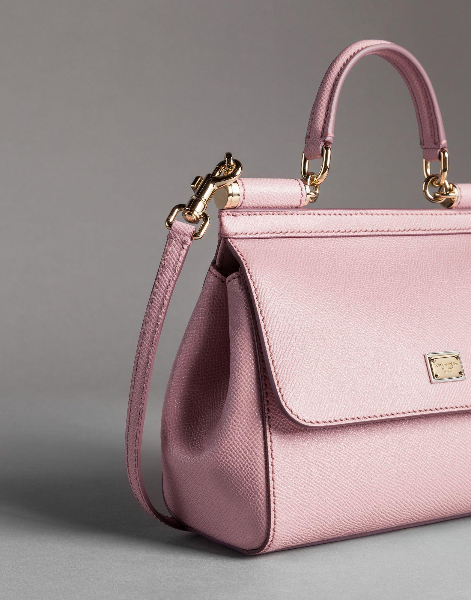 cd84638d3d Dolce & Gabbana Sicily Mini Dauphine-Print Shoulder Bag in Pink - Lyst