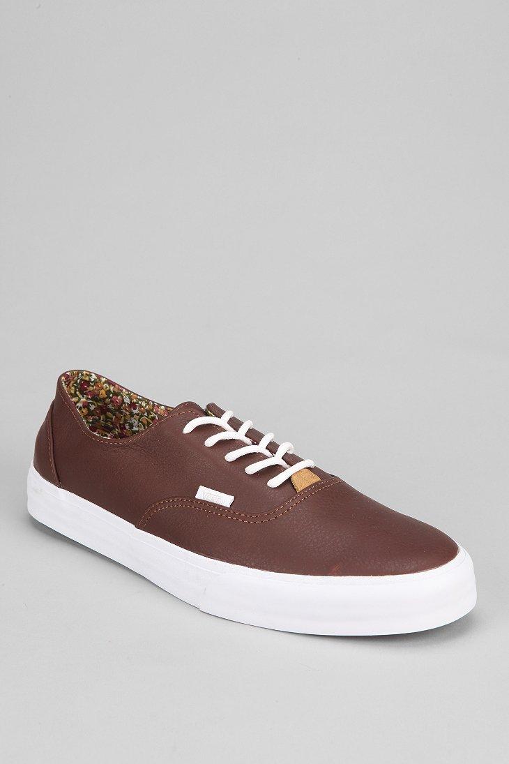 0311f2bbe2c06c Lyst - Vans Era Decon California Nappa Mens Leather Sneaker in Brown ...
