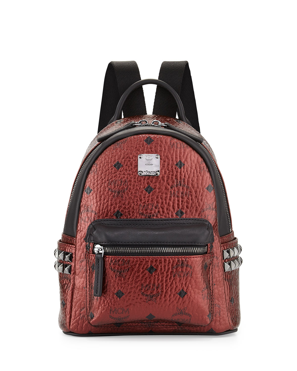 a8ce521c9247 Lyst - Mcm Stark Side Stud Mini Backpack in Brown