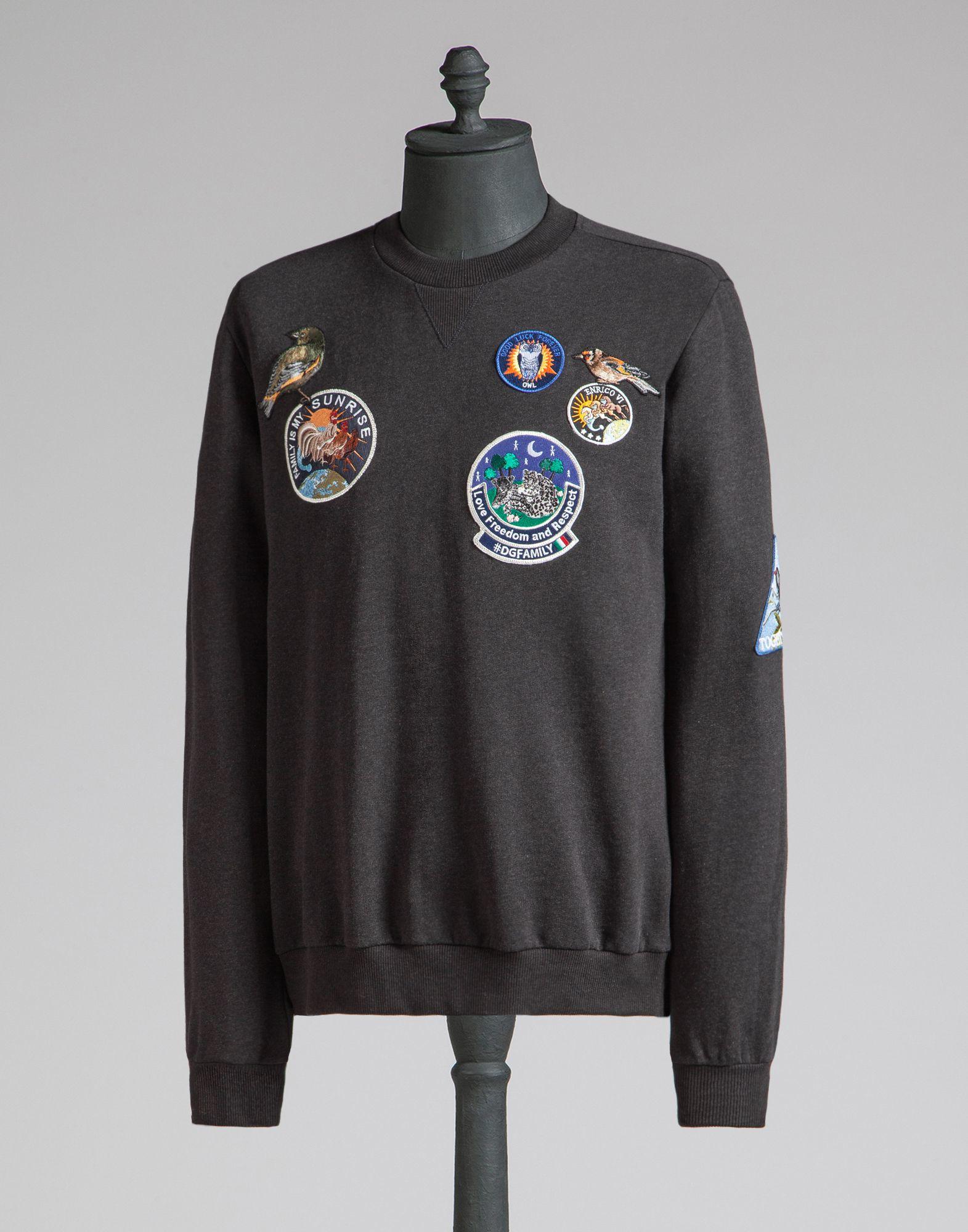 Lyst Dolce Amp Gabbana Cotton Sweatshirt With Embroidered