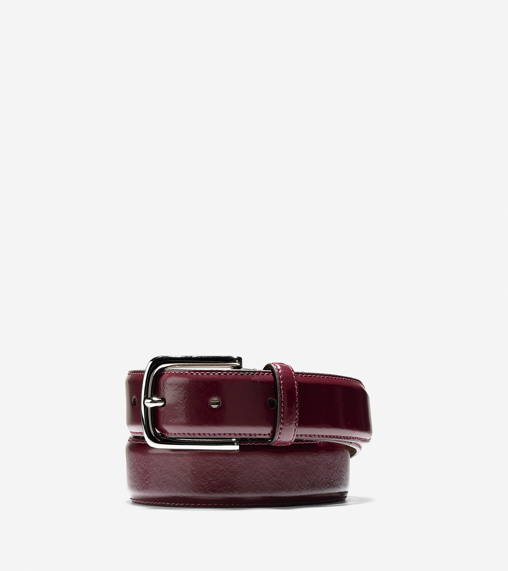cole haan 32mm shine dress belt in brown for lyst