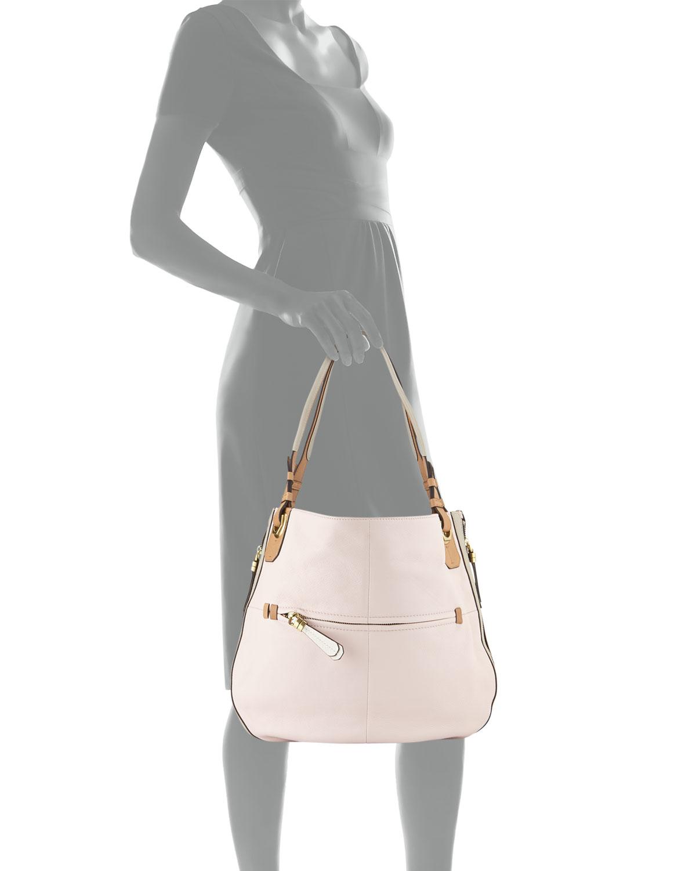 d17563da19ce Lyst - Oryany Joyce Colorblock Hobo Bag in Pink