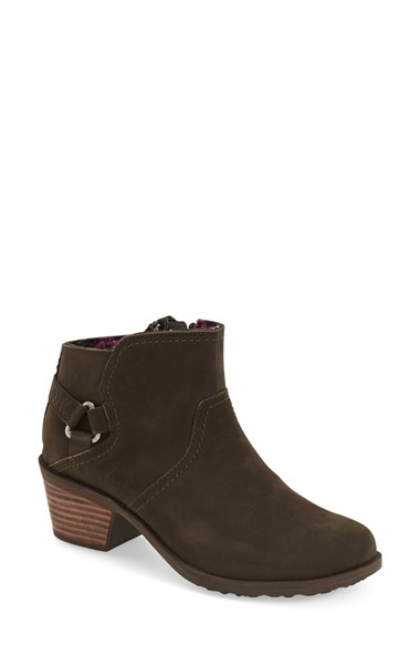 Foxyolive: Teva Foxy Leather Ankle Boots In Brown (BLACK OLIVE)