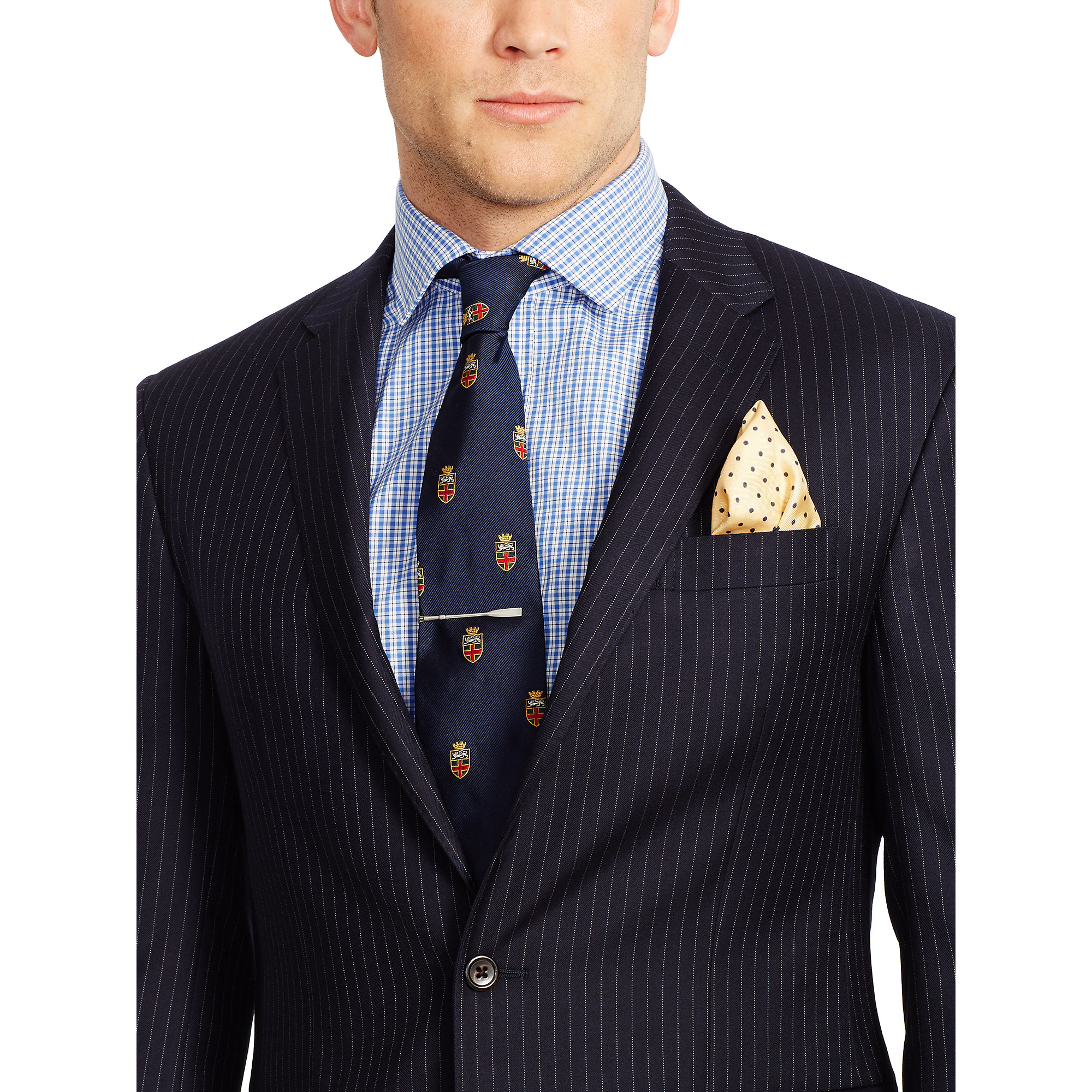 Lyst Polo Ralph Lauren Polo Pinstriped Wool Suit In Blue