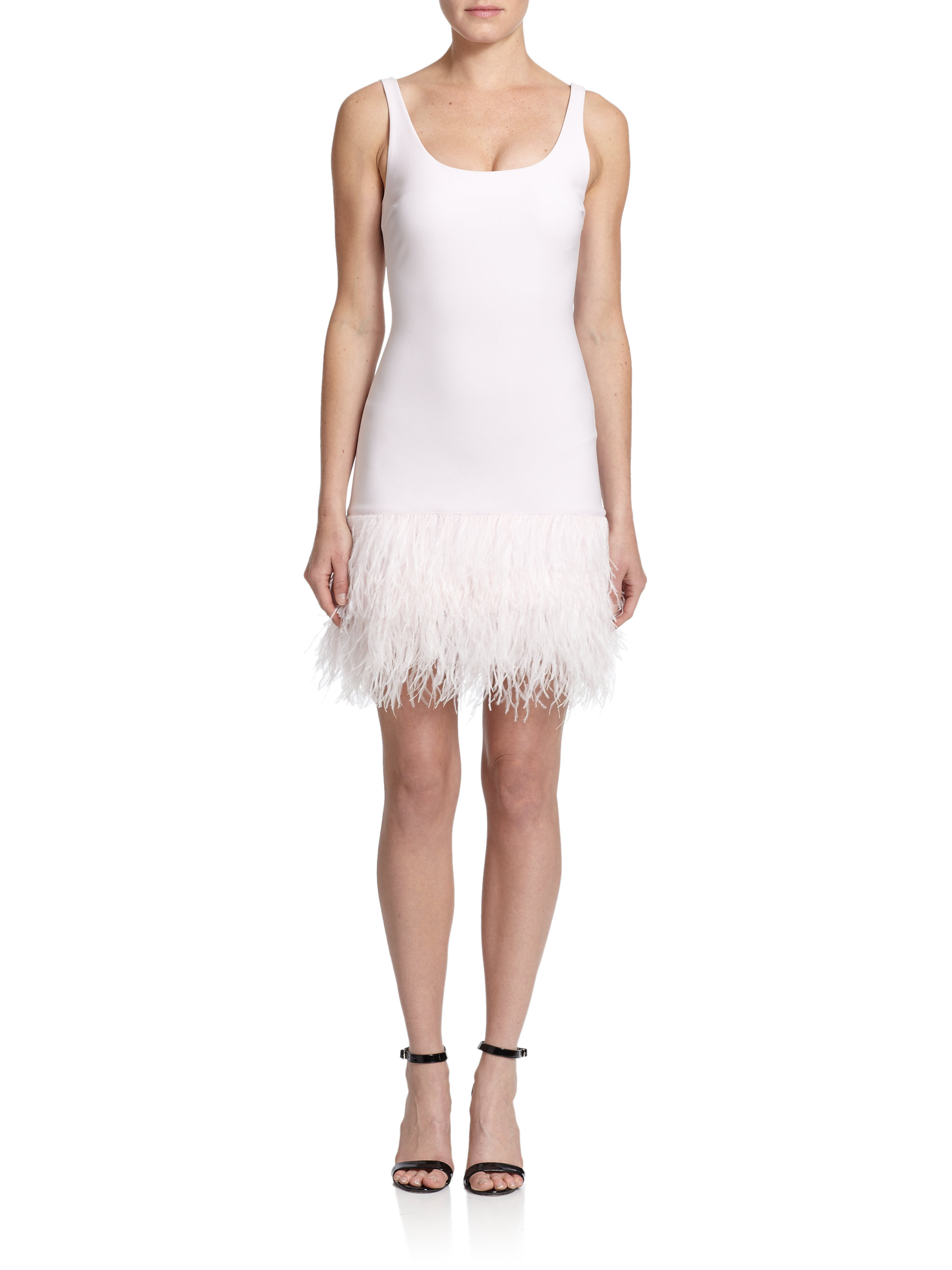 f9239e389 Elizabeth and James India Feather-hem Dress in Pink - Lyst