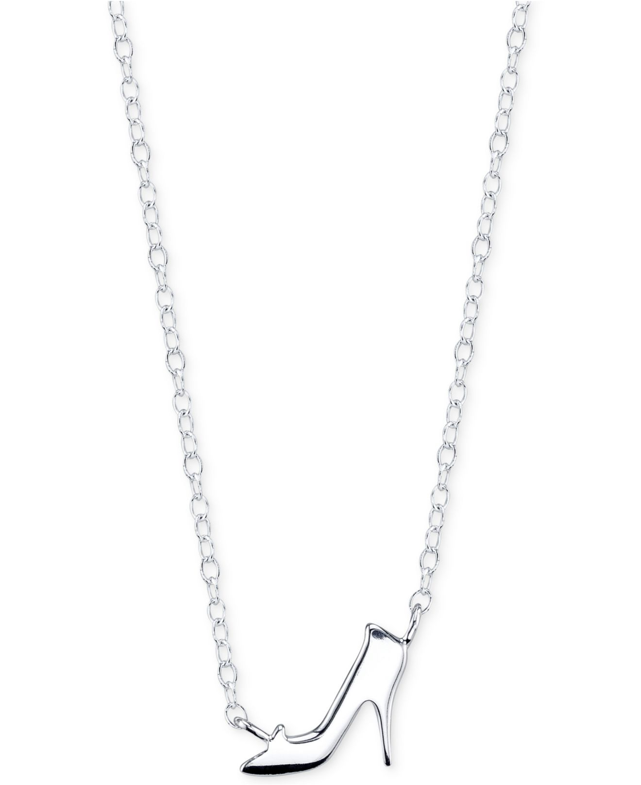 Lyst disney cinderella glass slipper necklace in sterling silver gallery aloadofball Choice Image