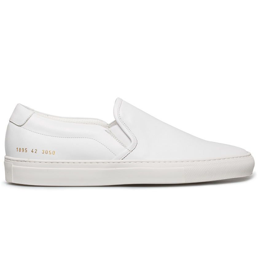 Common projects White Leather Slip-on Sneakers in White for Men | Lyst
