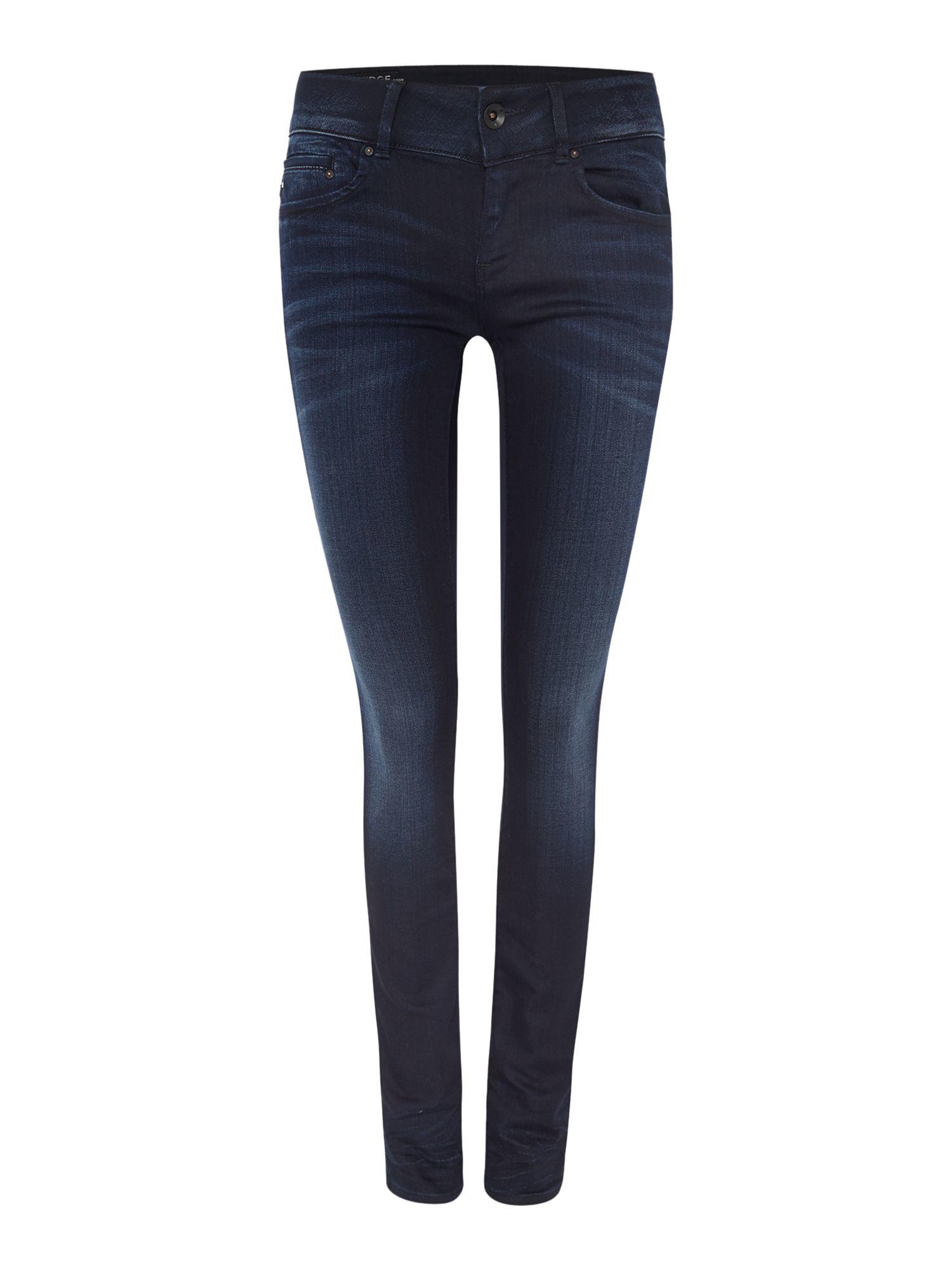 star raw midge cody mid rise skinny jean in slander navy in blue. Black Bedroom Furniture Sets. Home Design Ideas