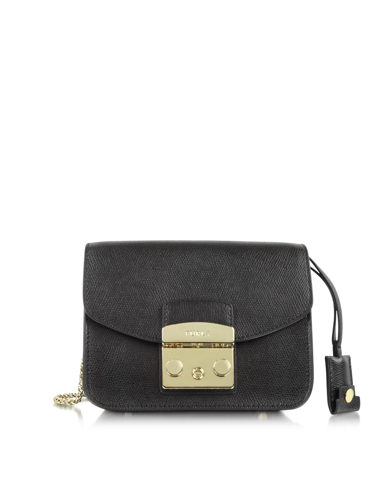 furla metropolis mini crossbody bag in black onyx lyst. Black Bedroom Furniture Sets. Home Design Ideas