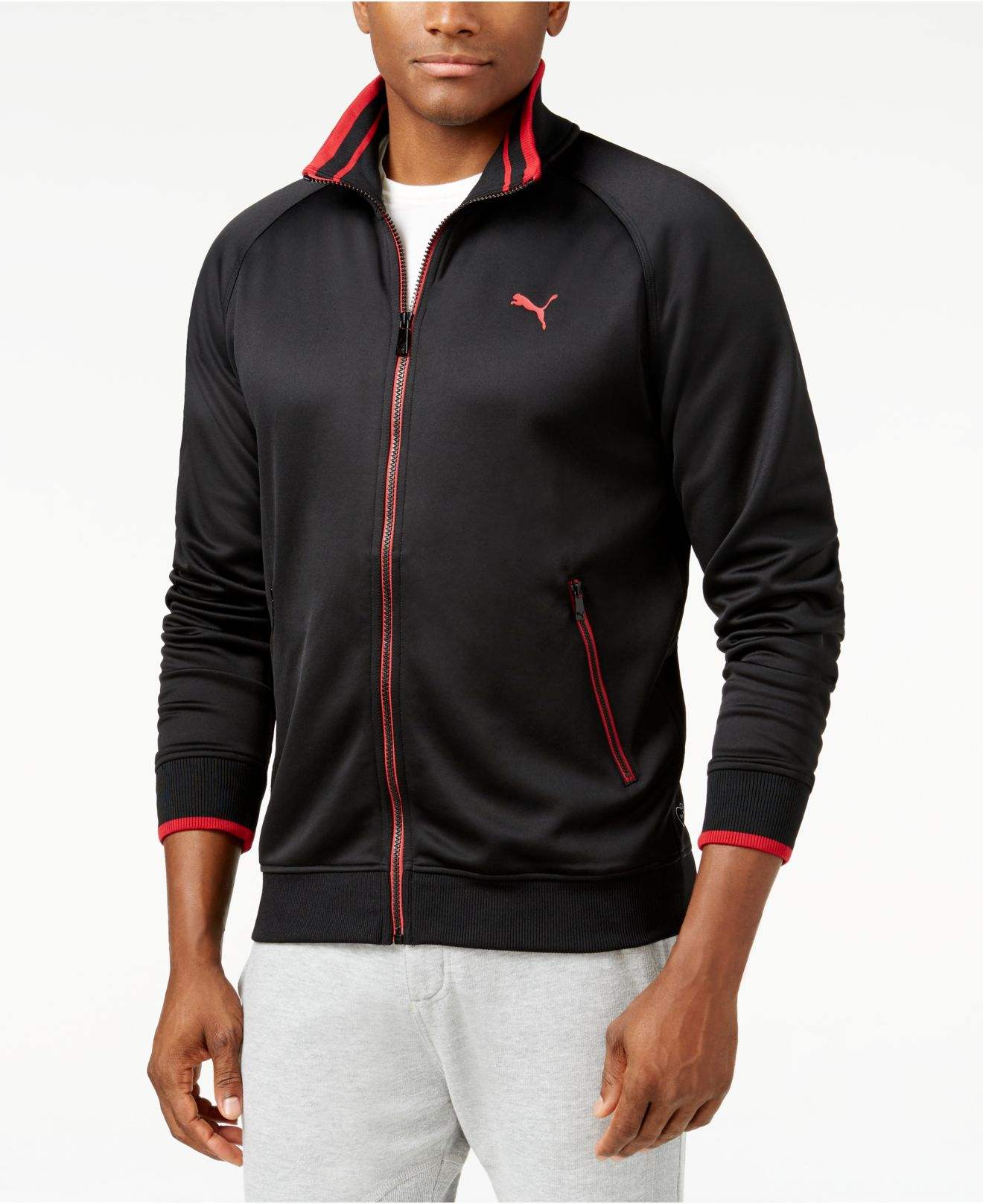 cabff1229f63 Lyst - PUMA Men s Full-zip Tricot Track Jacket in Black for Men