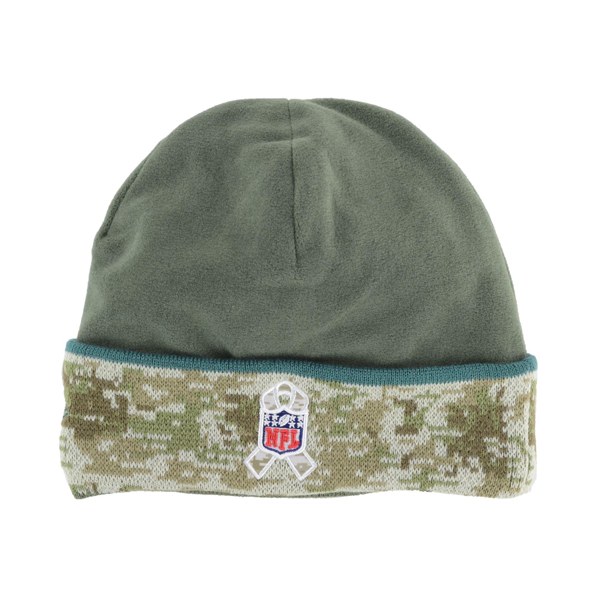 30abe38e4f0 Lyst - KTZ Philadelphia Eagles Salute To Service Knit Hat in Green ...