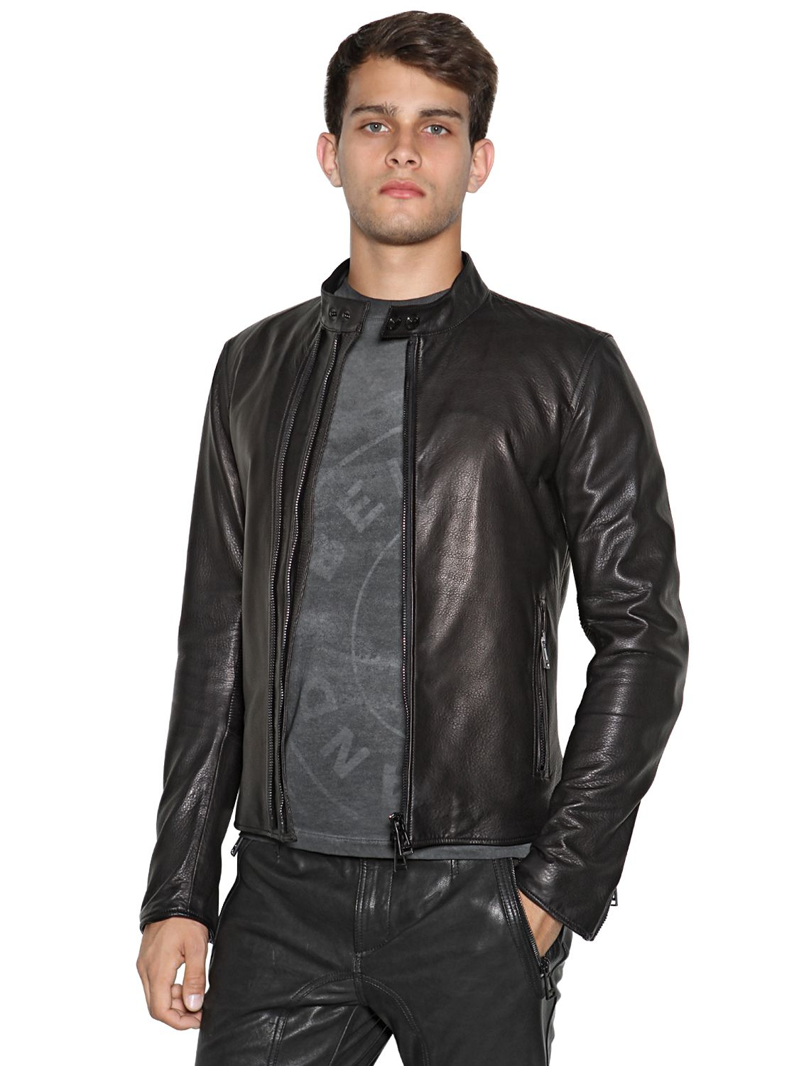 Lyst Belstaff Holbrook Leather Moto Jacket In Black For Men
