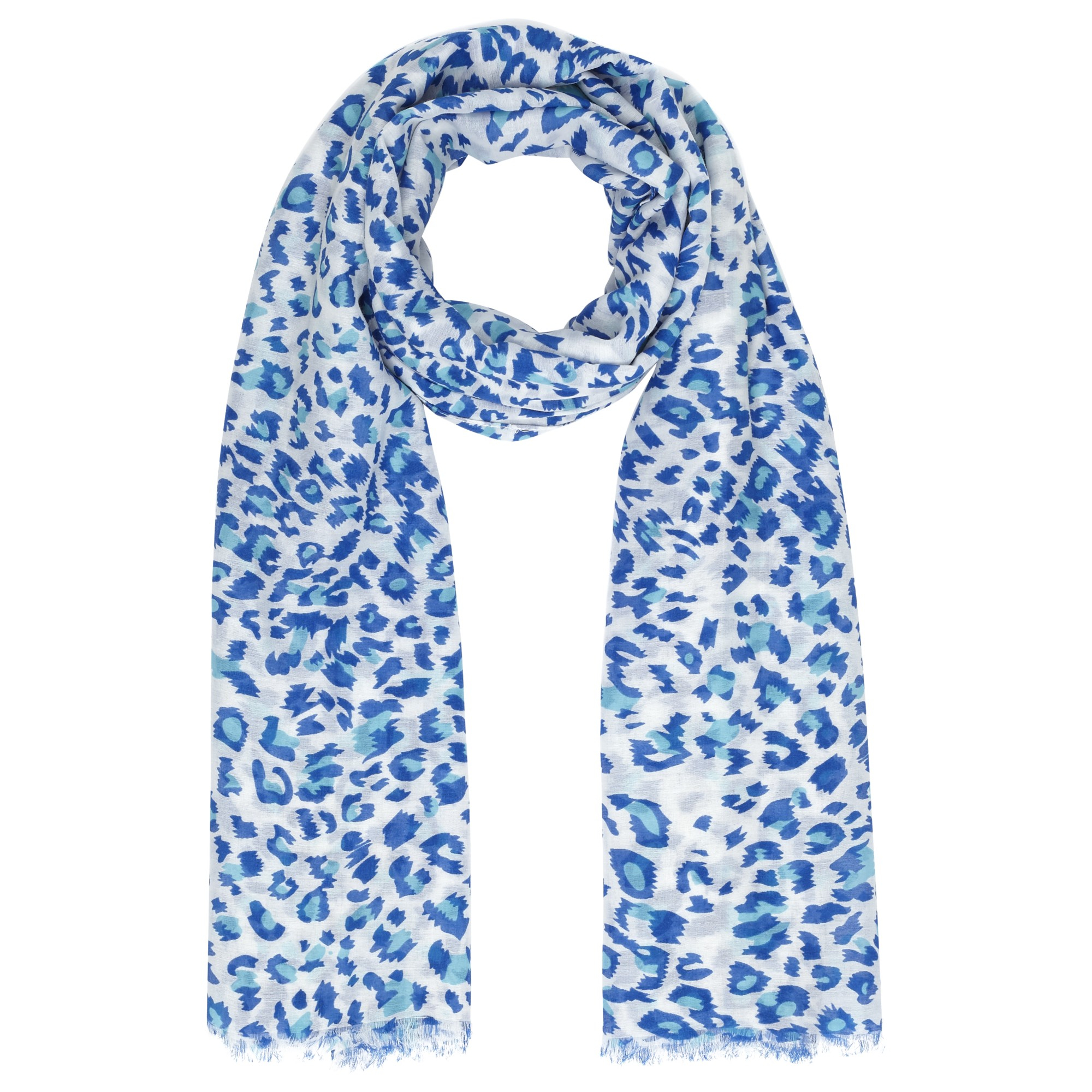 lewis animal print scarf in blue lyst