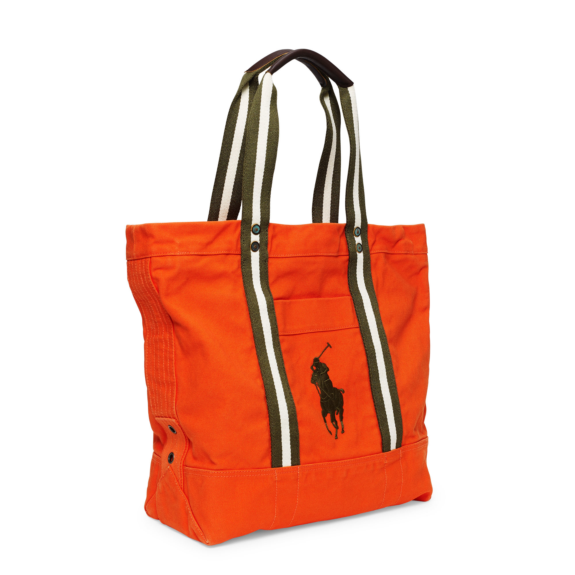 80123f0070 Polo Ralph Lauren Canvas Big Pony Tote in Orange for Men - Lyst