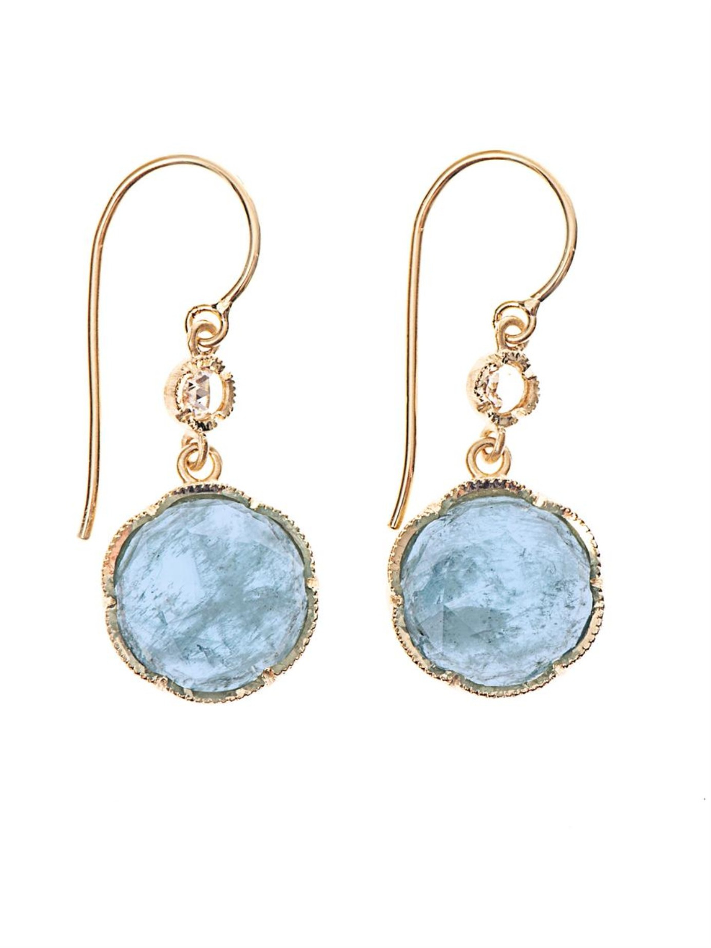 Aquamarine Gold Earrings Collection