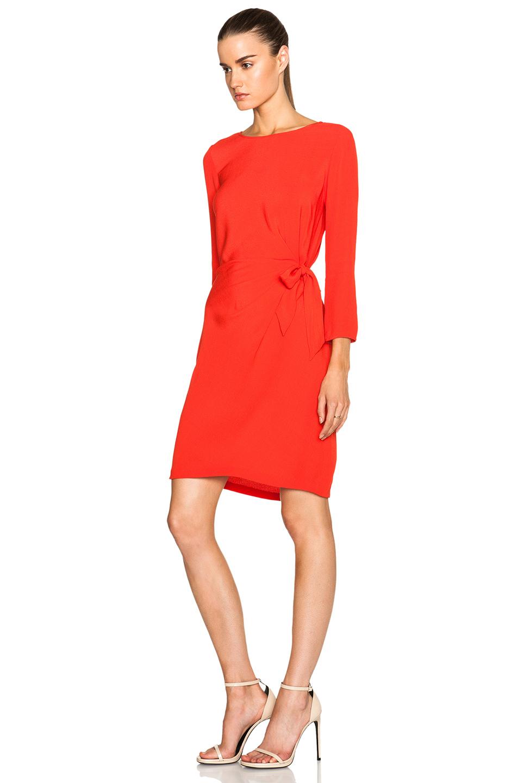Diane von furstenberg Zoe Dress in Red | Lyst