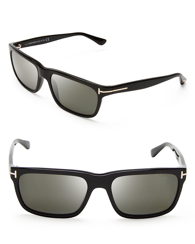 fb17b9194289 Lyst - Tom Ford Polarized Hugh Wayfarer Sunglasses in Black