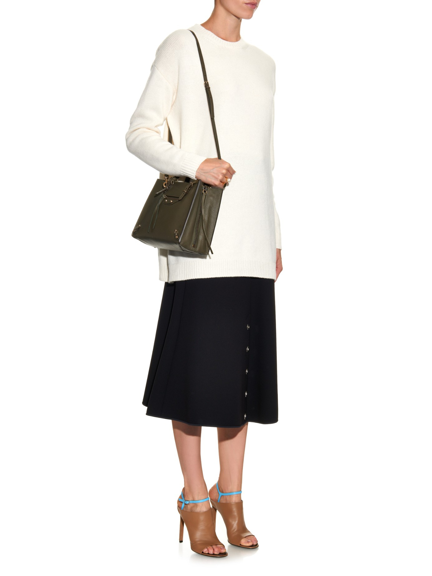 Lyst - Balenciaga Papier A6 Leather Shoulder Bag in Natural 886b05ac02c3d