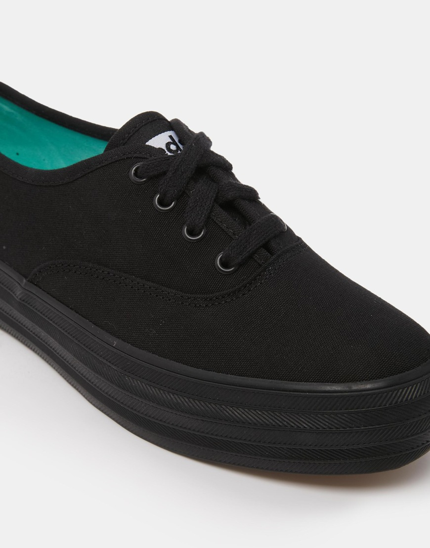 keds black flatform sneakers in black lyst