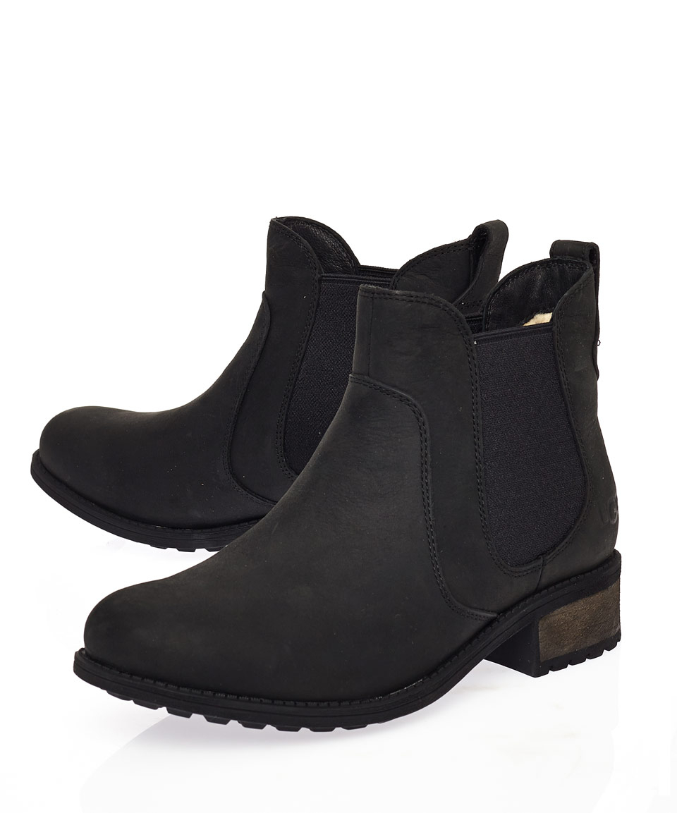 black ankle boots ugg