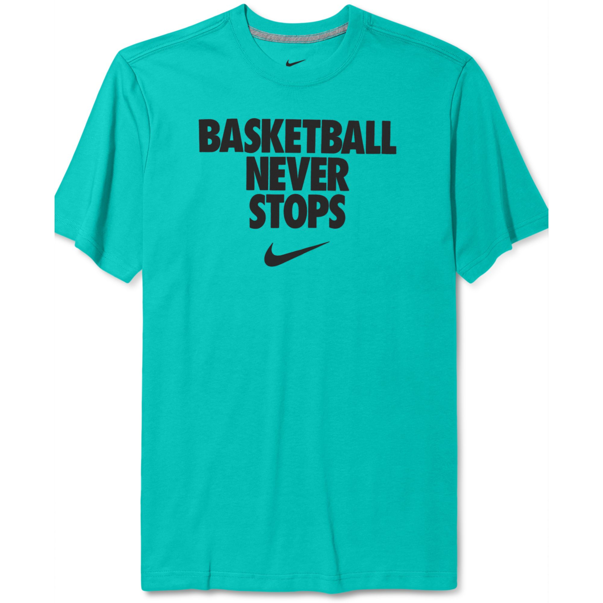 Lyst - Nike Never Stops Basketball Tshirt in Blue for Men Nike Basketball Shirts