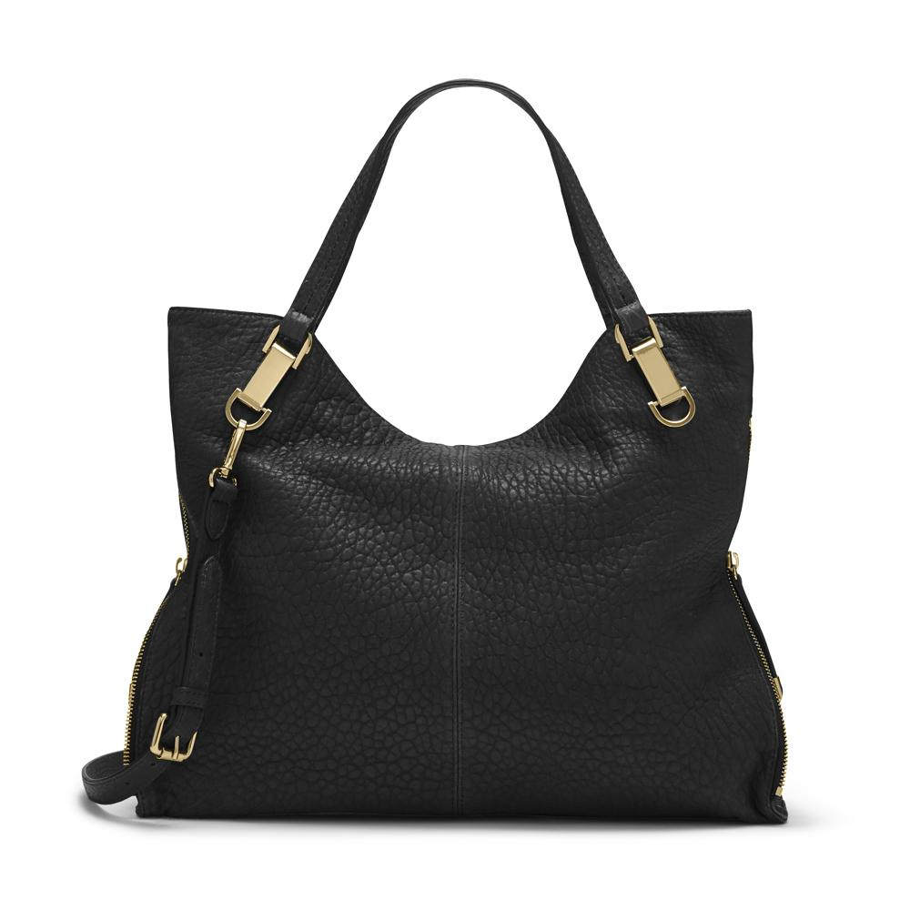 Vince Camuto Riley Bubble Lamb Tote In Black Lyst
