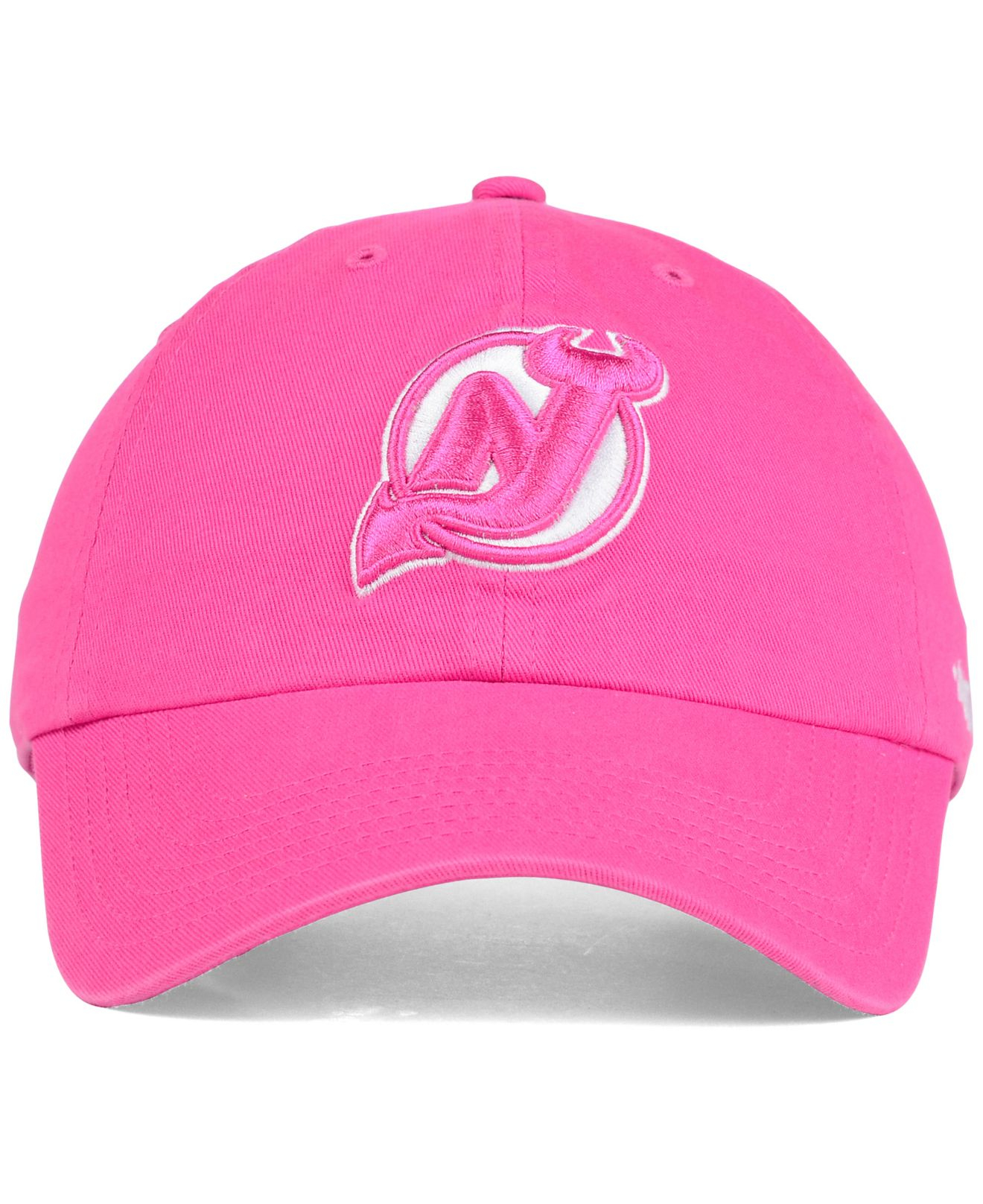 sale lyst 47 brand girls new jersey devils clean up cap in pink for men  560b4 acd4f3cfa4ab
