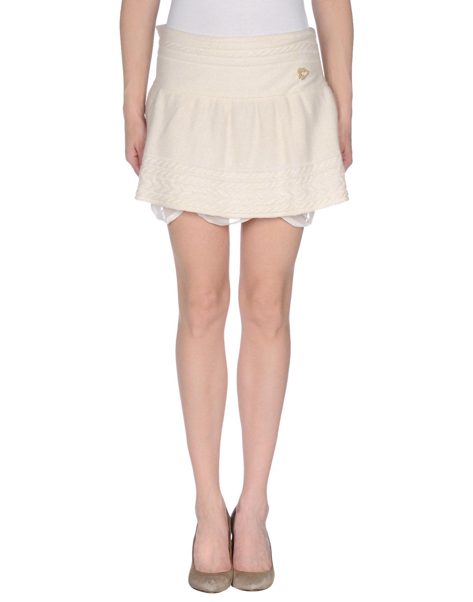 maison espin mini skirt in white lyst