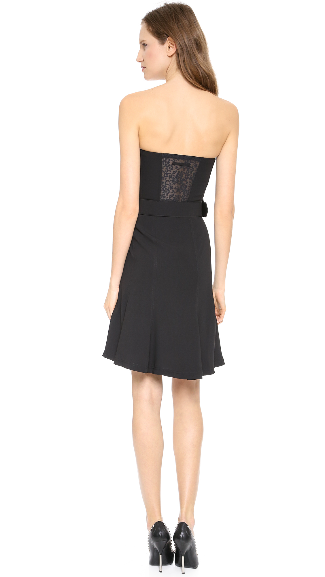 Lyst Jean Paul Gaultier Strapless Bustier Dress Black