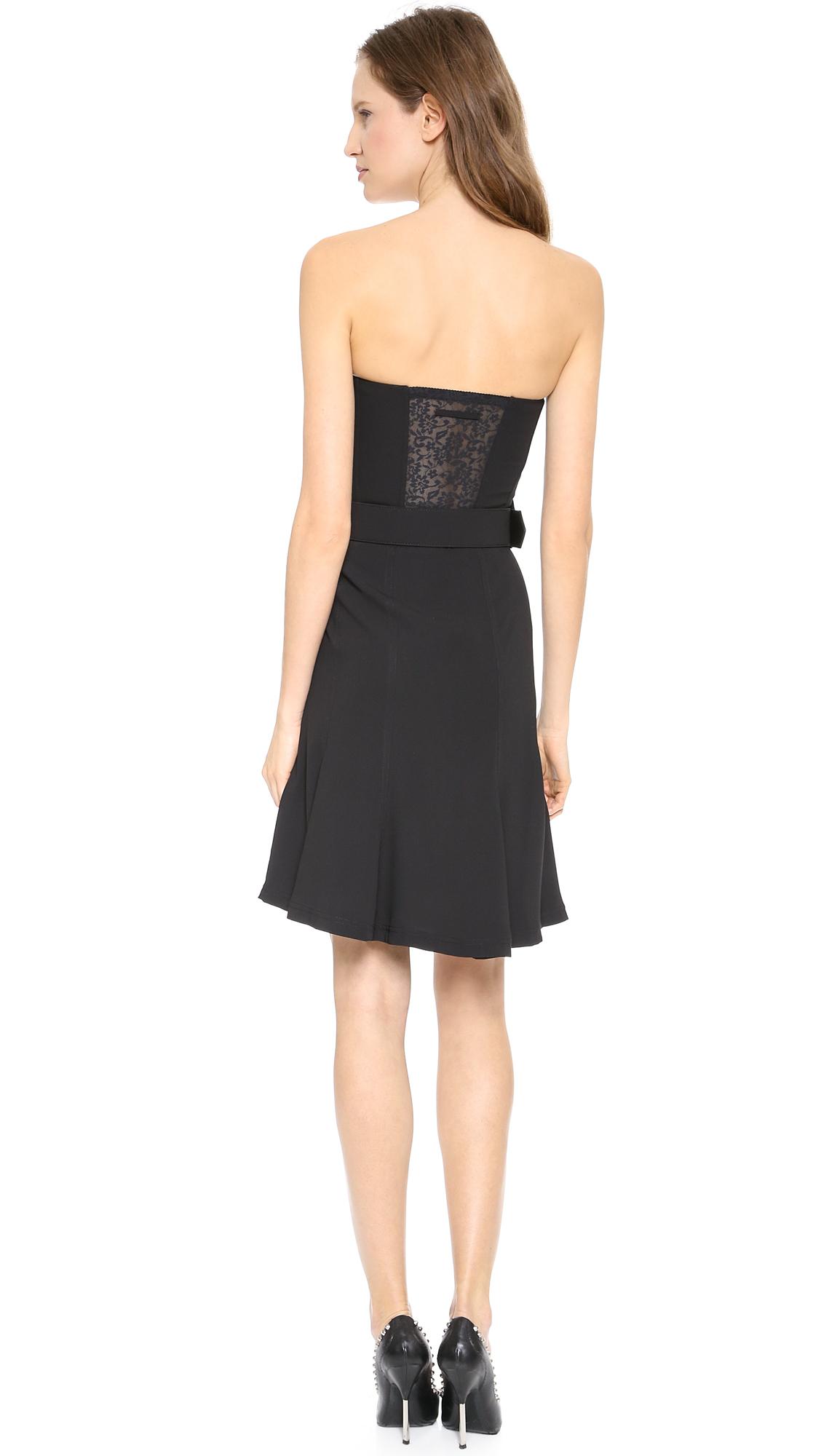 lyst jean paul gaultier strapless bustier dress black. Black Bedroom Furniture Sets. Home Design Ideas