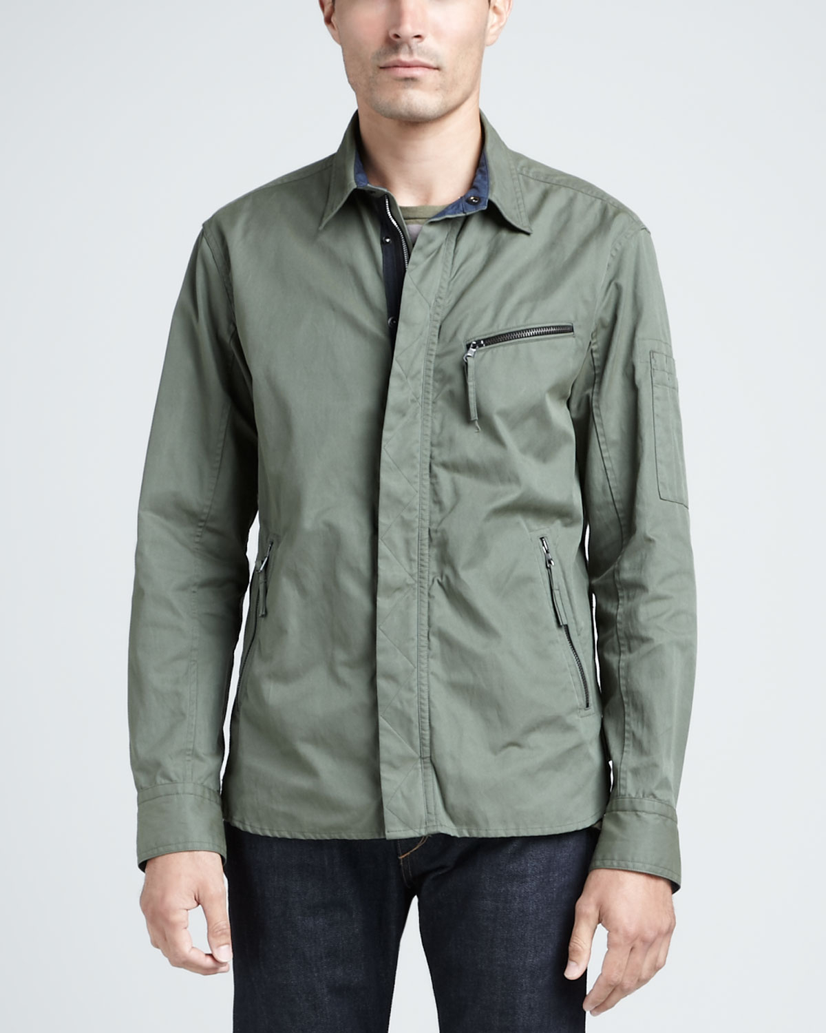 Rag &amp bone Hendon Shirt Jacket in Green for Men | Lyst
