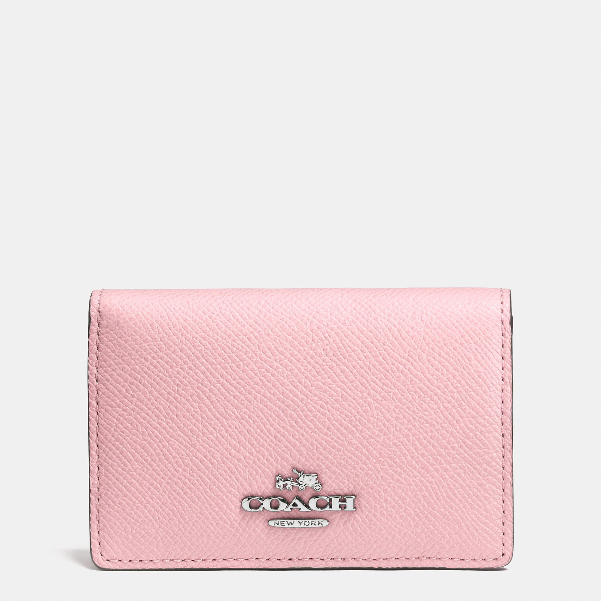 Lyst - Coach Business Card Case In Crossgrain Leather in Pink