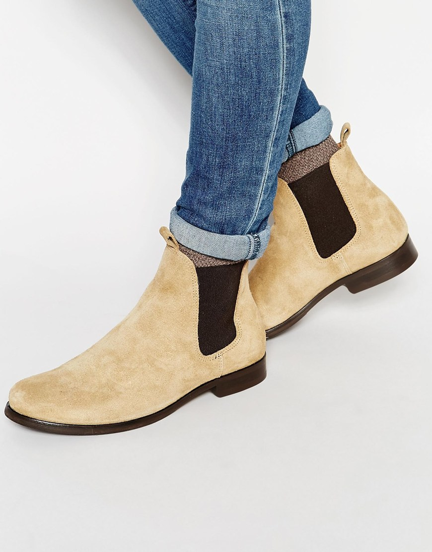 selected melvin suede chelsea boots in brown for lyst