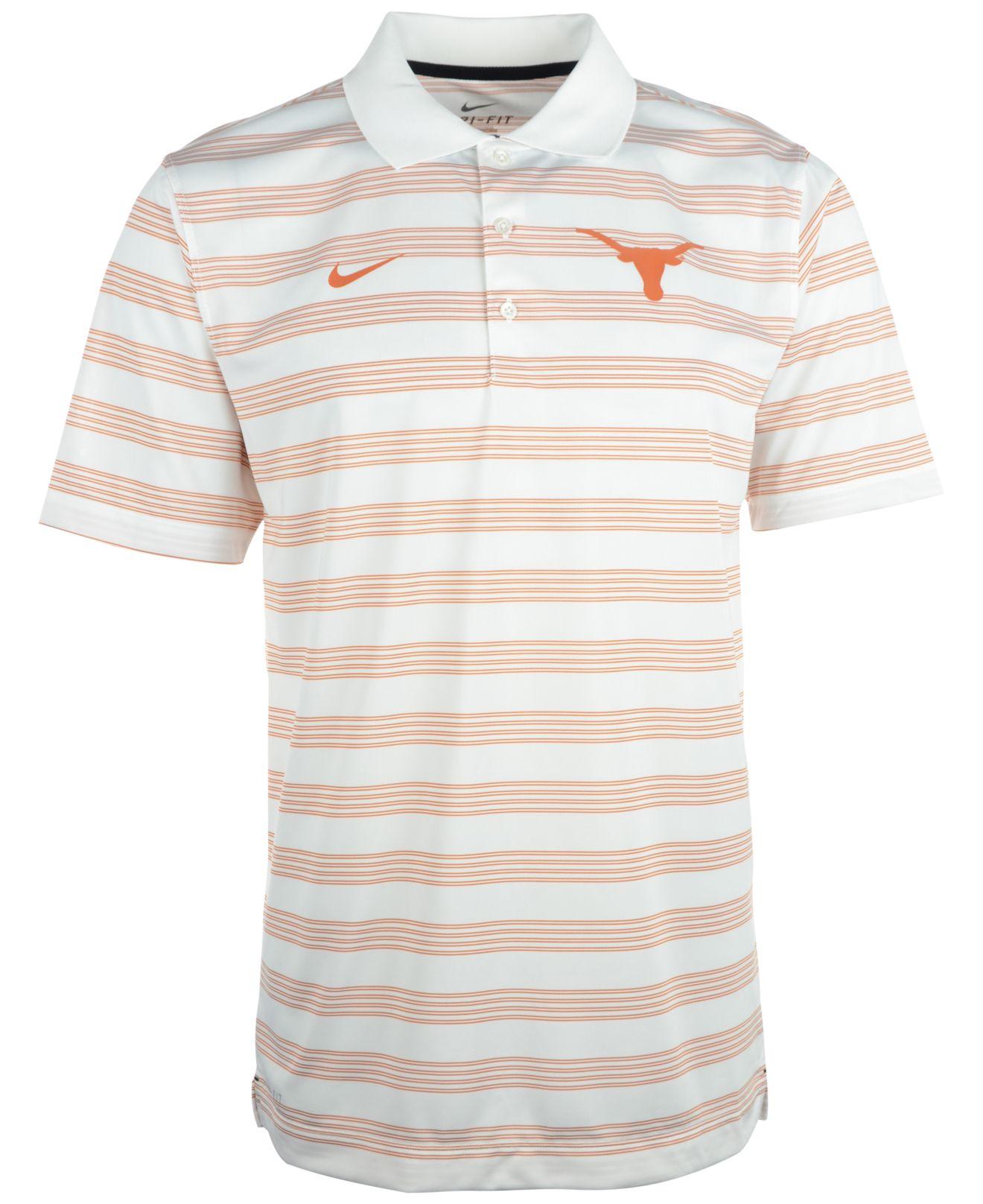 82f204ff Nike Men's Texas Longhorns Dri-fit Preseason Polo Shirt in White for ...