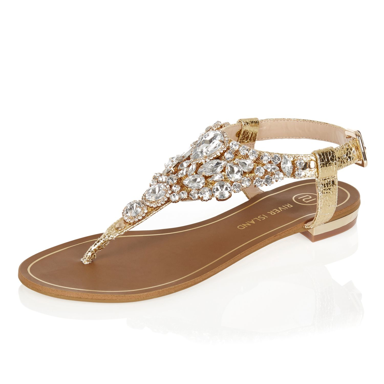 Black jelly sandals river island - Gallery Women S Gold Sandals