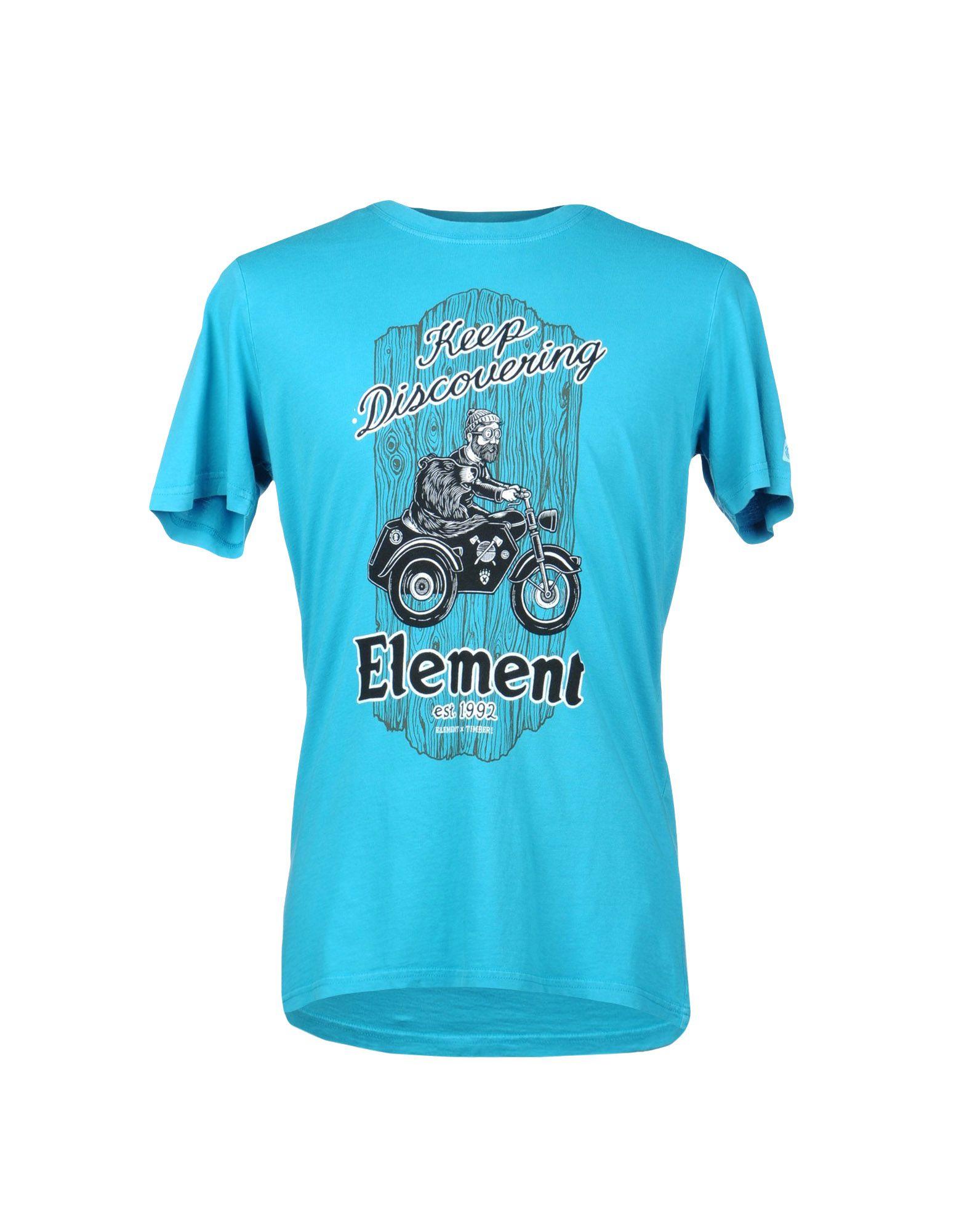 element t shirt in blue for men turquoise lyst. Black Bedroom Furniture Sets. Home Design Ideas