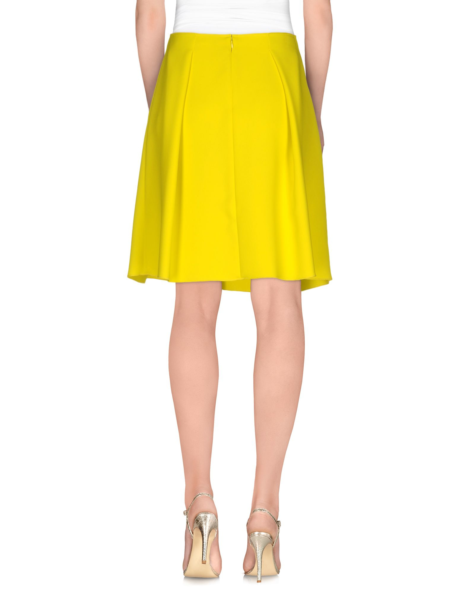 tara jarmon knee length skirt in yellow lyst