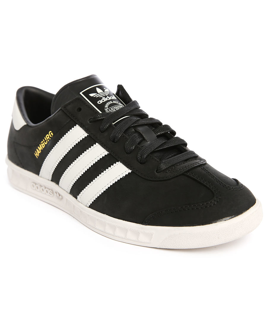 salomon ombre - Adidas originals Hamburg Black/white Suede Sneakers in Black for ...