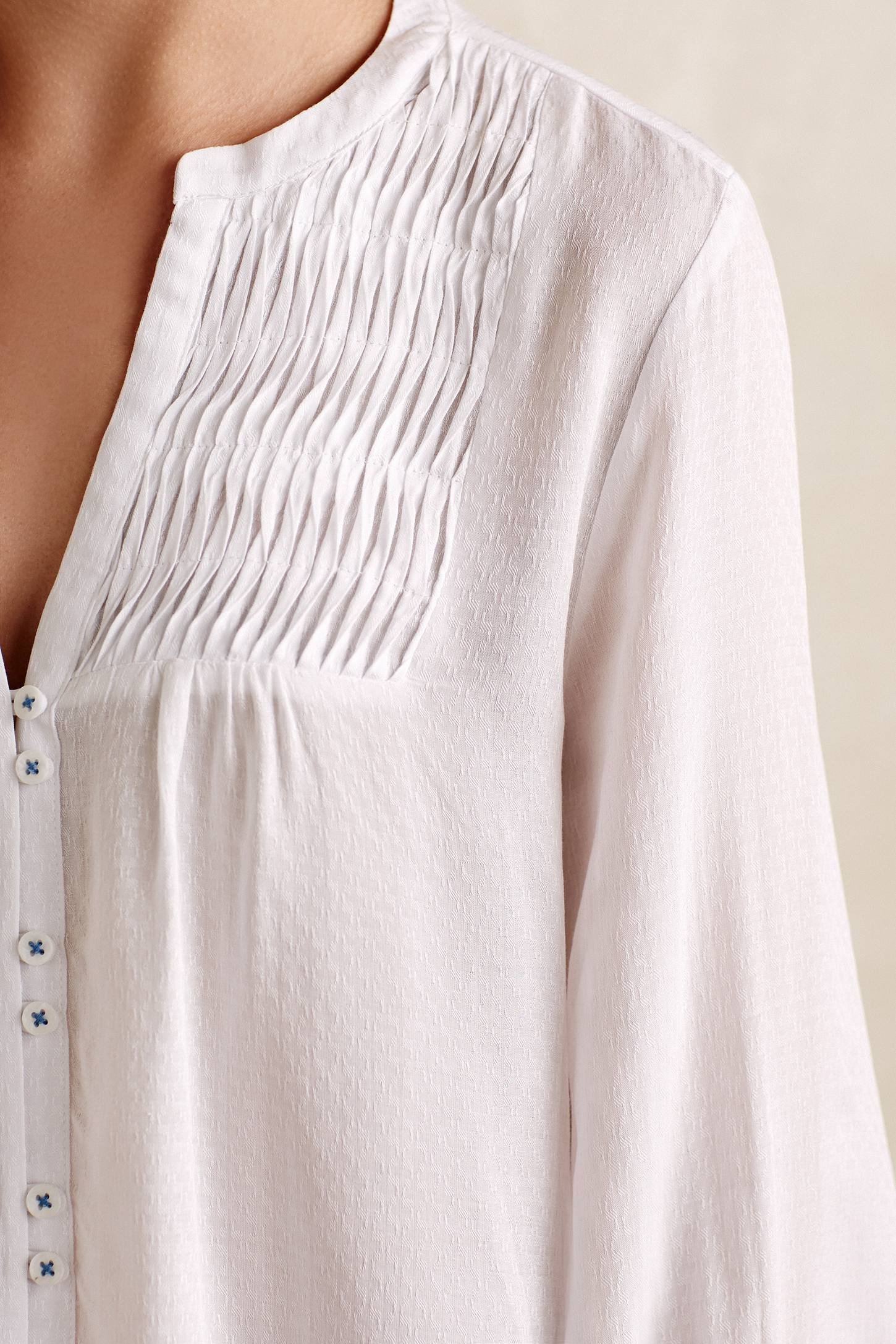 Womens White Peasant Blouse