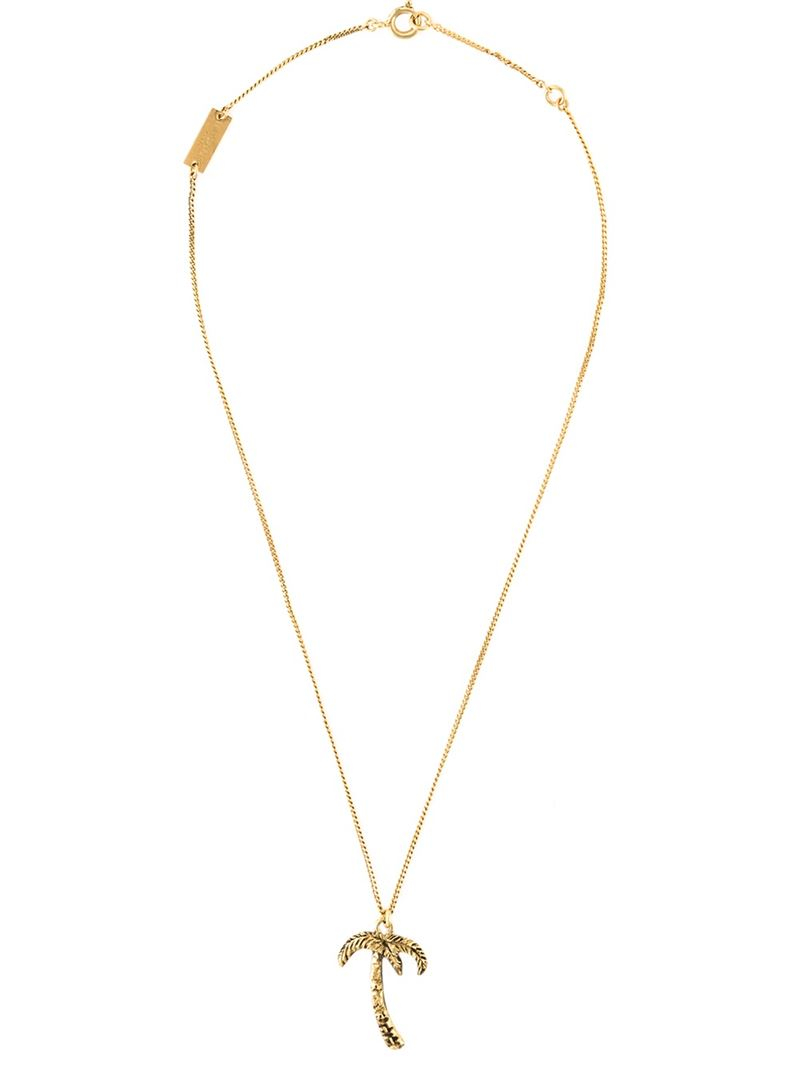 charm embellished necklace - Metallic Saint Laurent aj7NsQl1B
