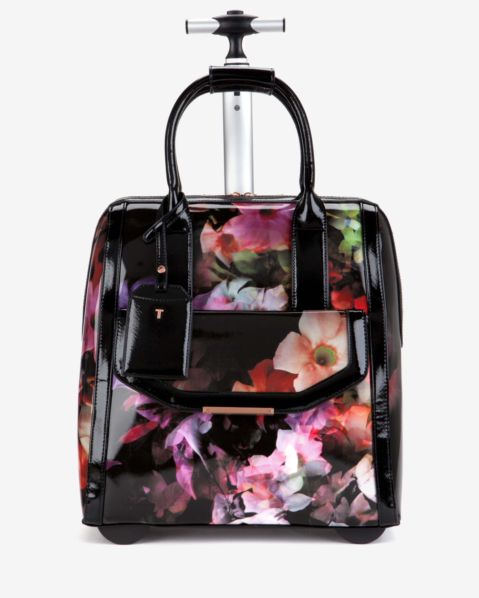 cbc75ba41 Ted Baker Cascading Floral Travel Bag in Black - Lyst