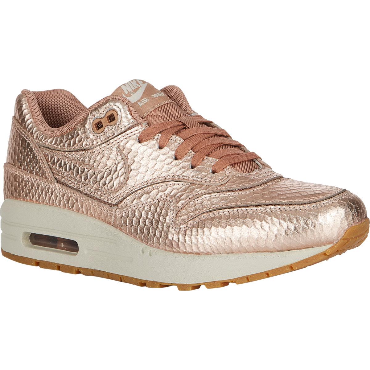 c79aa4a96617c Nike Air Max 1 Cutout Premium Sneakers in Metallic - Lyst