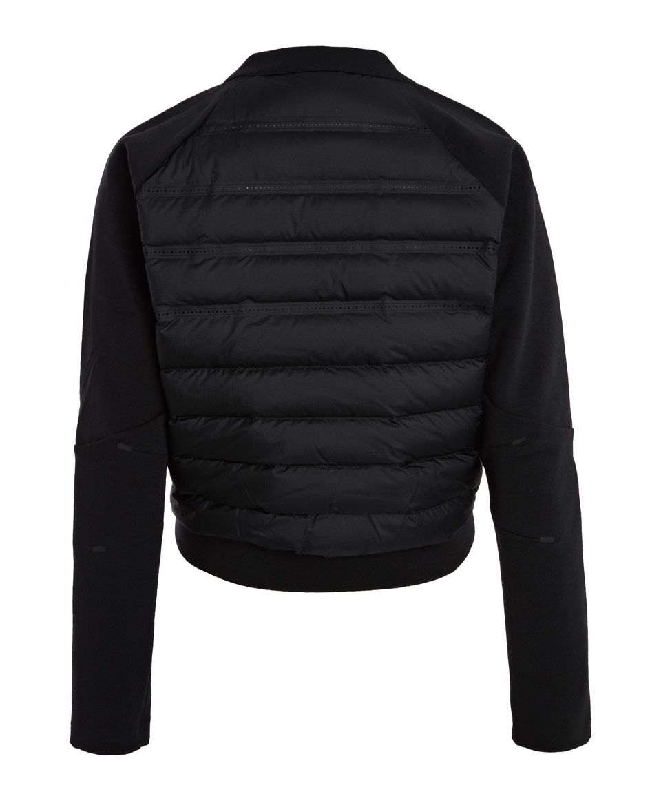 b0ee25cf6ed0 Lyst - Nike Black Tech Fleece Aeroloft Crew Neck Top in Black