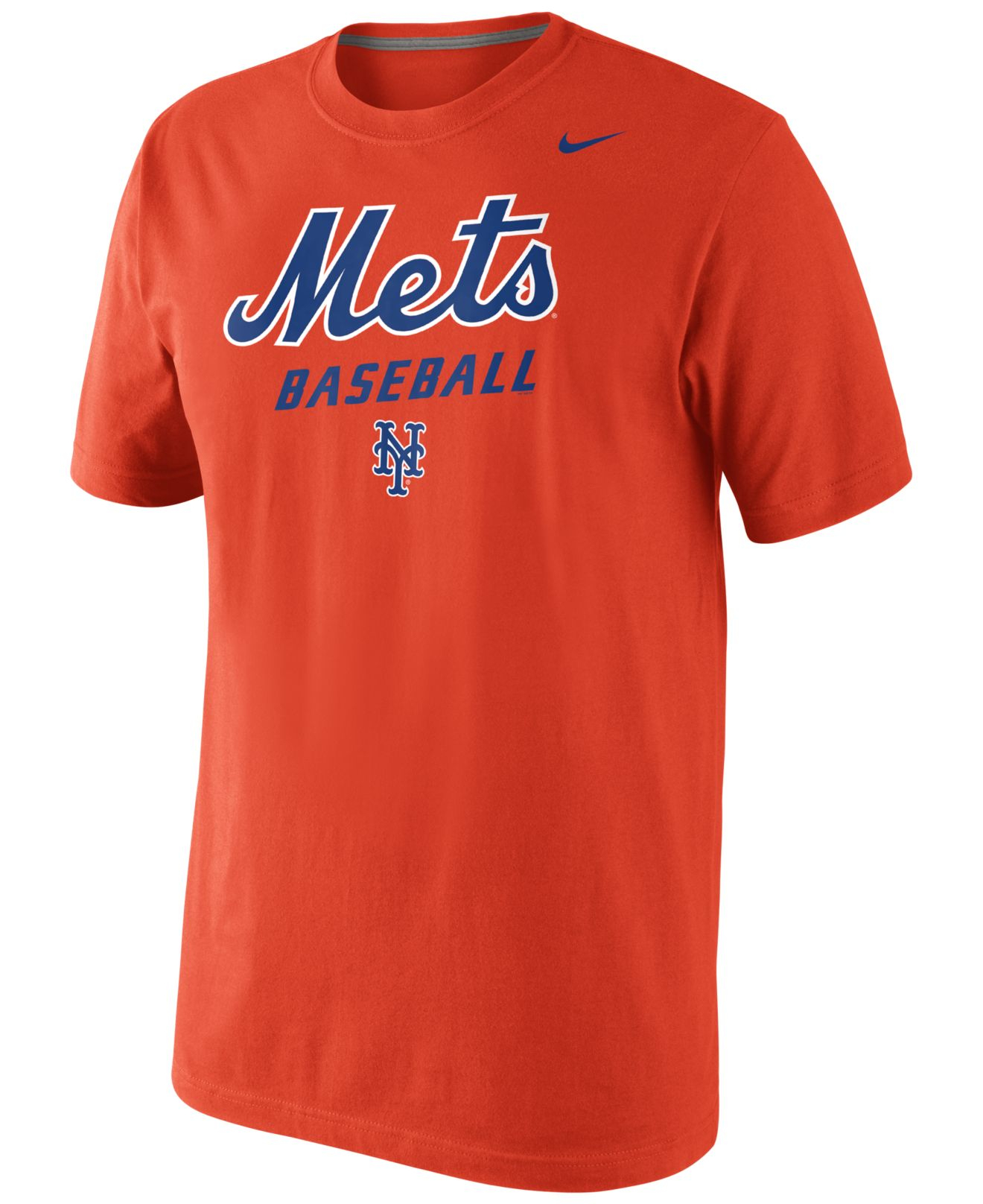 Lyst nike men 39 s new york mets practice t shirt in orange for T shirt screen printing nyc