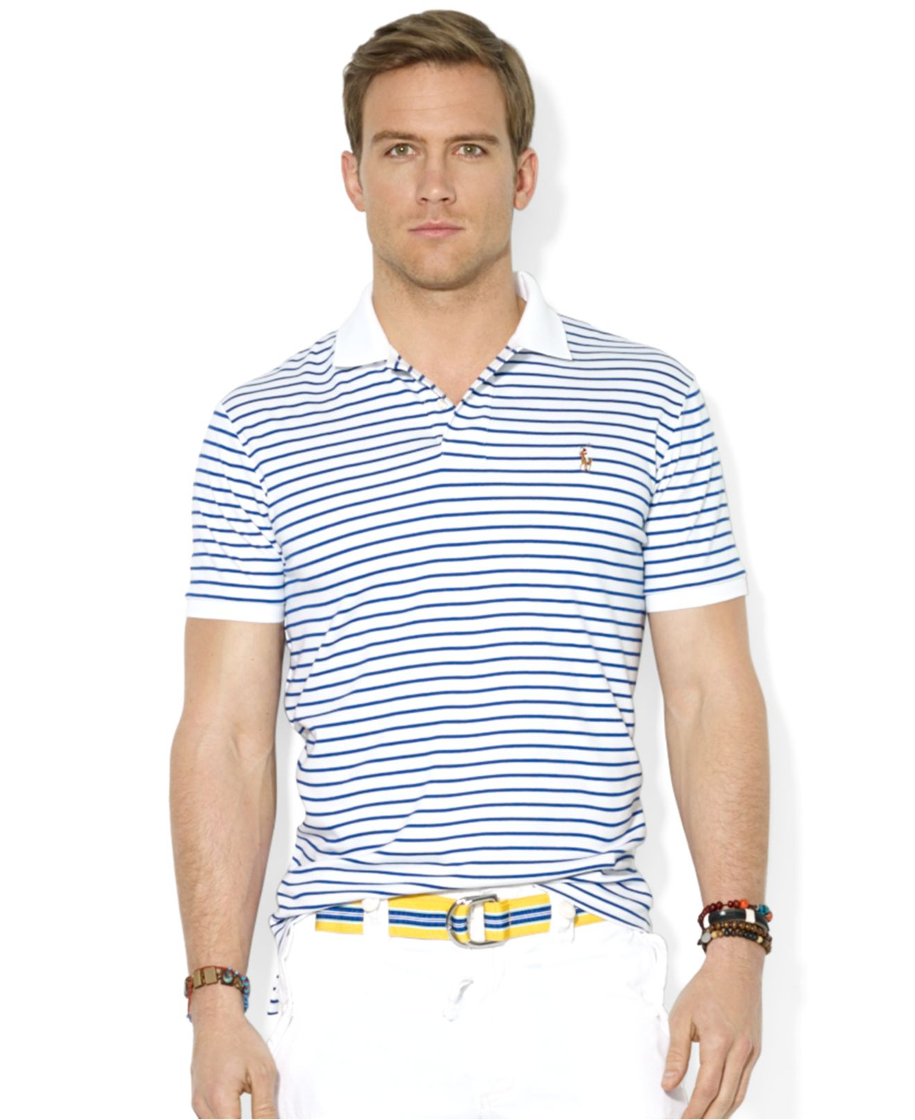 9baab3309c0 Lyst - Polo Ralph Lauren Polo Striped Pima Softtouch Polo Shirt in ...