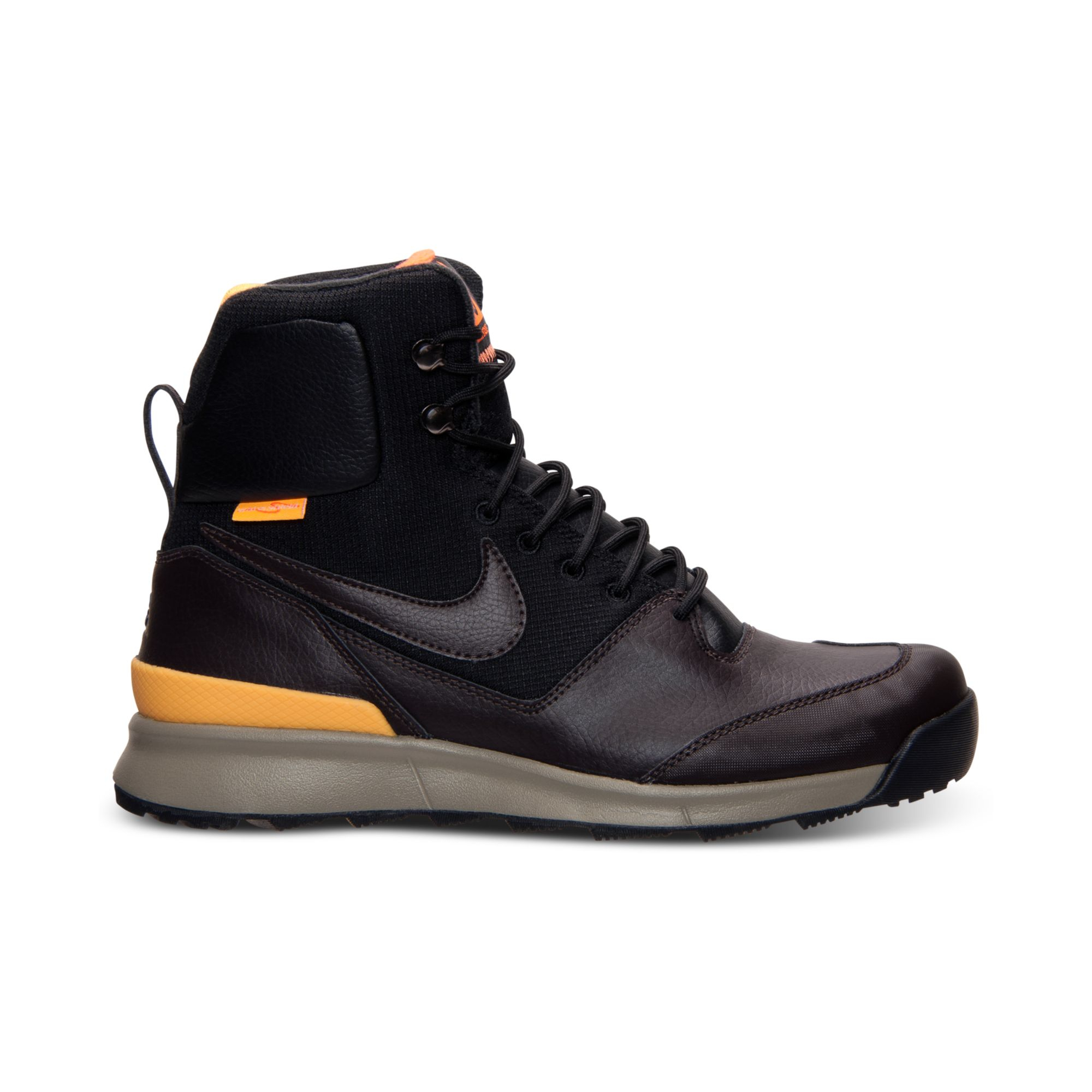 nike mens air stasis boots from finish line in brown for