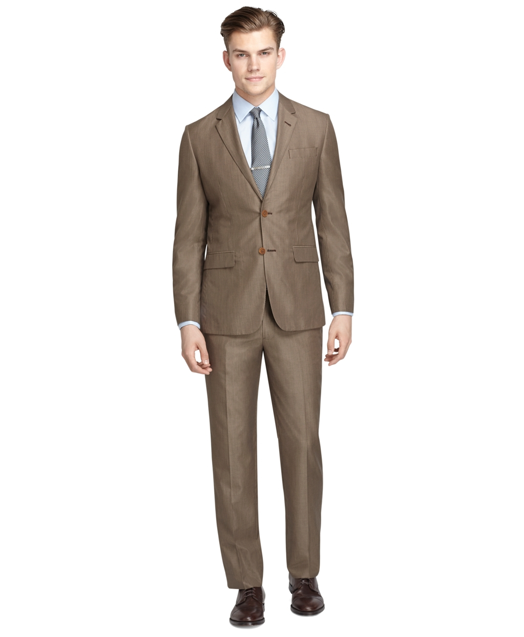 Brooks brothers Milano Fit Tan Houndstooth Suit in Brown for Men ...
